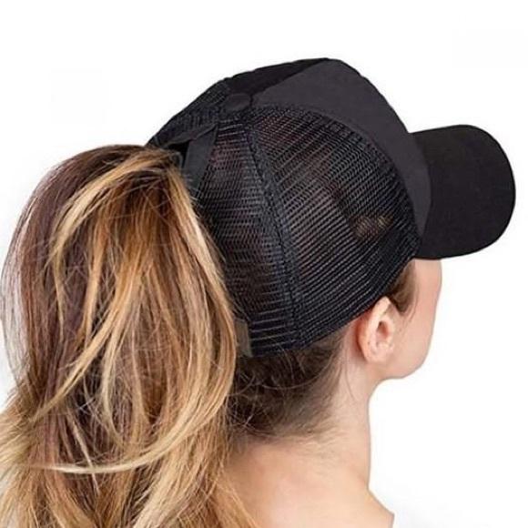⭐️20% OFF BUNDLES⭐ Black C. C. High ponytail cap 952323b3e1b